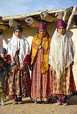 Women of the Boyerahmad tribe, Iran, Middle East