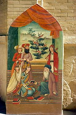 Qajar painting, Shiraz Museum, Shiraz, Iran, Middle East