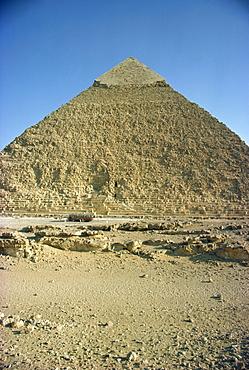 Chephren pyramid, Giza, UNESCO World Heritage Site, near Cairo, Egypt, North Africa, Africa