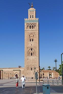 Koutoubia Mosque, UNESCO World Heritage Site, Marrakesh, Morocco, North Africa, Africa