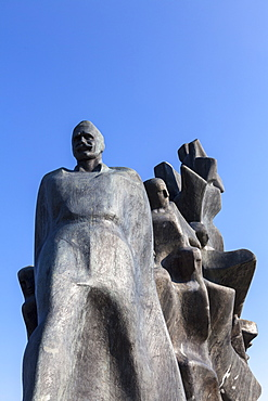 Sculpture commemorating fallen soldiers at the Yugoslav Front, Memorial Park to the Uprising and the Revolution, Grahovo, Montenegro, Europe