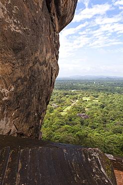 Steps leading up Sigiriya (Lion Rock), UNESCO World Heritage Site, Sri Lanka, Asia