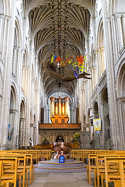 Norwich Cathedral interior, Norwich, England, UK, Europe