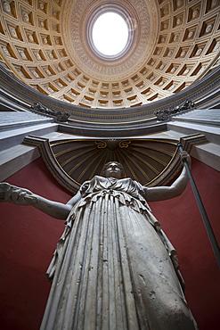 A statue, Pantheon, UNESCO World Heritage Site, Rome, Lazio, Italy, Europe