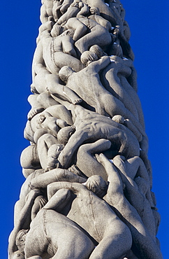 The Monolith at Vigland Sculture Park / Vigelandsparken (also known as Frognerparken), Oslo, Norway. Sculptures by Gustav Vigeland.