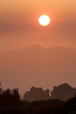 Sunset over Garden Route.   Cape Peninsular, South Africa