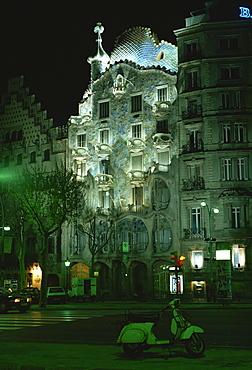 Casa Batllo by Gaudi, Barcelona, Catalonia, Spain, Europe