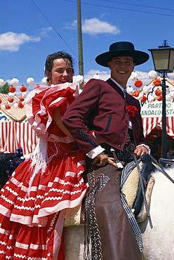 Horsemanship, April Fair, Seville, Andalucia, Spain, Europe