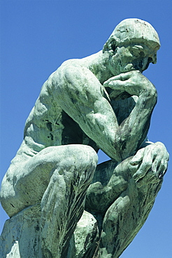 The Thinker, by Rodin, Musee Rodin, Paris, France, Europe