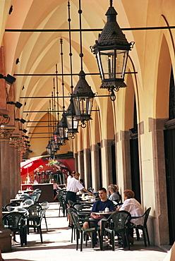 Arcades of Cloth Hall, Old Town, Krakow, Makopolska, Poland, Europe