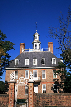 Governor's Palace, Georgian architecture in colonial Williamsburg, Virginia, United States of America, North America
