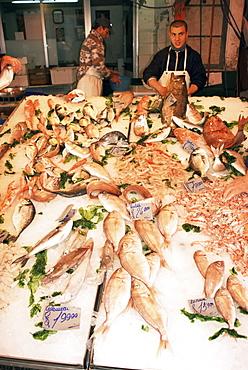 Mercato Vucciria, fish market, Palermo, Sicily, Italy, Europe