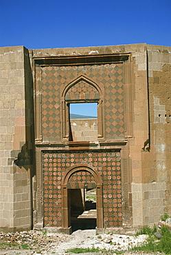 Seljuk Turk Palace, Ani, northeast Anatolia, Turkey, Asia Minor, Eurasia