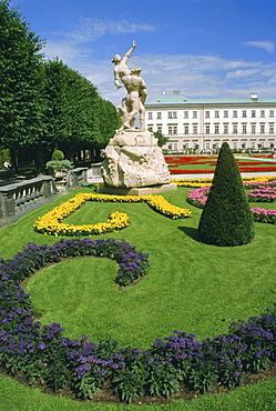 Mirabell Gardens and Schloss Mirabell, Salzburg, Austria, Europe