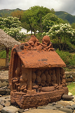 Tiki park, Taiohoe, Nuku Hiva, French Polynesia, Pacific Islands, Pacific