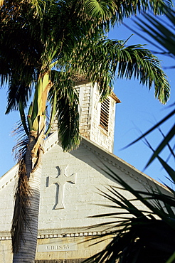 Episcopal (Anglican) church, dating from 1855, Gustavia, St. Barthelemy, West Indies, Central America