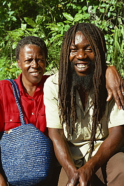 Rastafarian and friend, Charlotte Amalie, St. Thomas, U.S. Virgin Islands, West Indies, Caribbean, Central America