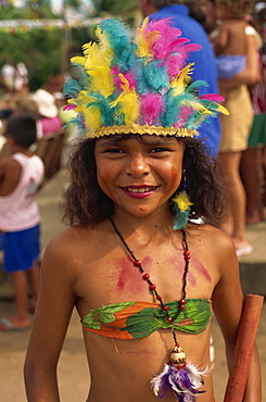 Young dancer, Pacoval village, Amazon area, Brazil, South America