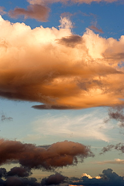 Clouds above Dominica, West Indies, Caribbean, Central America