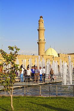 Minaret and Qaysari Bazaars, Shar Park, Erbil, Kurdistan, Iraq, Middle East