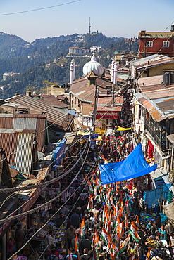 Lower Bazaar, The Mall, Shimla (Simla), Himachal Pradesh, India, Asia