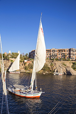 Sofitel Legend Old Cataract hotel situated on the banks of the River Nile, Aswan, Upper Egypt, Egypt, North Africa, Africa