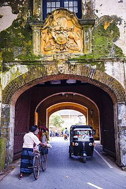 Entrance gate to the Old Town of Galle, UNESCO World Heritage Site on the South Coast of Sri Lanka, Asia