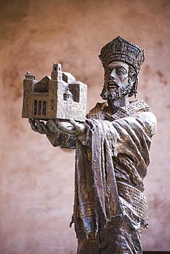 Statue of Guglielmo II at Monreale Cathedral (Duomo di Monreale) in Monreale, near Palermo, Sicily, Italy, Europe