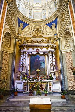 Decoration in the interior of Duomo (Noto Cathedral) (Cattedrale di Noto), Noto, Val di Noto, UNESCO World Heritage Site, Sicily, Italy, Europe