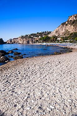 Isola Bella Beach, Taormina, Sicily, Italy, Mediterranean, Europe