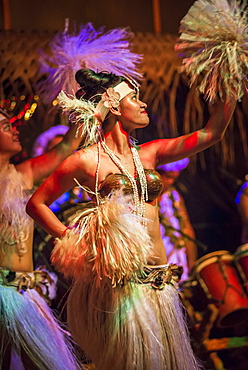 Highland Paradise, Drums of our Forefathers Cultural Show, Rarotonga, Cook Islands, South Pacific, Pacific