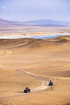 Quadbiking in Paracas National Reserve (Reserva Nacional de Paracas), Ica, Peru, South America