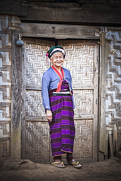 Palaung woman, part of the Palau Hill Tribe near Hsipaw Township, Shan State, Myanmar (Burma), Asia