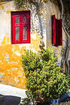 Colourful walls in Athens, Attica Region, Greece, Europe