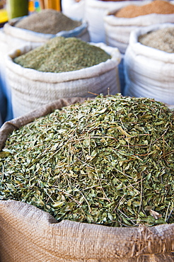 Moroccan tea leaves for sale, Essaouira, formerly Mogador, UNESCO World Heritage Site, Morocco, North Africa, Africa