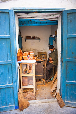 Carpenter in Old Medina, Essaouira, formerly Mogador, UNESCO World Heritage Site, Morocco, North Africa, Africa