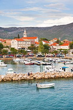 Orebic Harbour, where the ferry leaves mainland Croatia for Korcula Island, Dalmatian Coast, Adriatic, Croatia, Europe