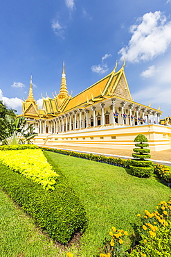 Throne Hall, Royal Palace, in the capital city of Phnom Penh, Cambodia, Indochina, Southeast Asia, Asia