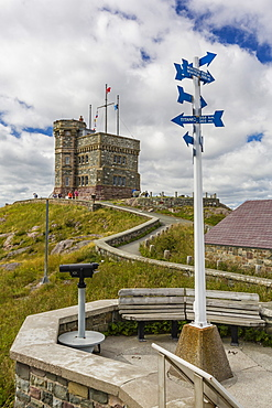 Cabot Tower, Signal Hill National Historic Site, St. John's, Newfoundland, Canada, North America