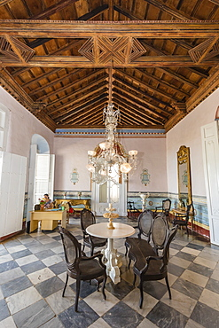 Interior view of the Museo de Arquitectura Colonial in the town of Trinidad, UNESCO World Heritage Site, Cuba, West Indies, Caribbean, Central America
