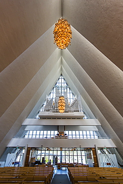 Interior view of the Ice Cathedral in Tromso, Norway, Scandinavia, Europe
