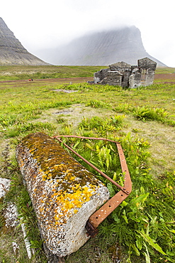 Abandoned whale shore processing station, Talknafjorour, Iceland, Polar Regions