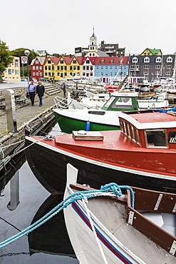 Harbor of Torshavn, Streymoy, Faroe Islands, Denmark, Europe