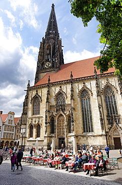 St. Lambert's church, Lambertikirchplatz, Muenster, North Rhine-Westphalia, Germany