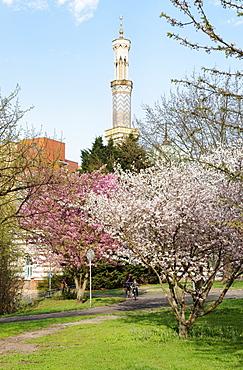 Mosque at Neustadt Bay, Havel, Potsdam, Brandenburg, Germany