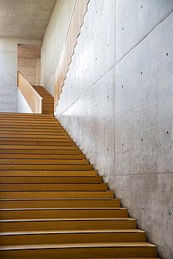 Stairway in the Georg Schaefer Museum, Schweinfurt, Franconia, Bavaria, Germany