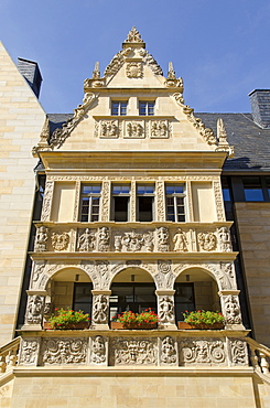 City hall in Halberstadt, Saxony-Anhalt, Germany, Europe