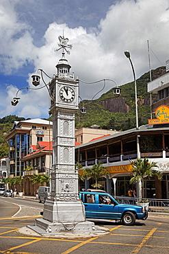 Clock tower, Victoria, Island of Mahe, Seychelles, Indian Ocean, Africa