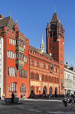 City Hall on Basel market square, Basel, Switzerland