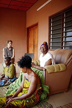 Audience with king Roi Gbehanzin of Abomey, Abomey, Zou Department, Benin